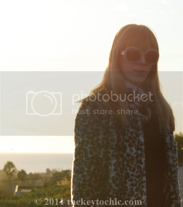 H&M leopard faux fur coat
