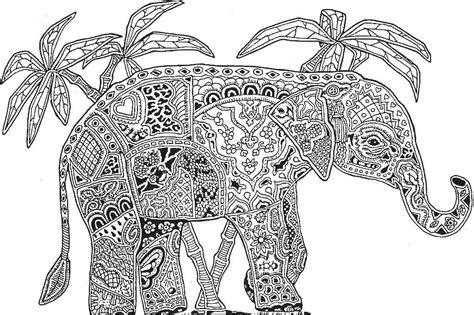 kaleidoscope elephant adult colouringelephants