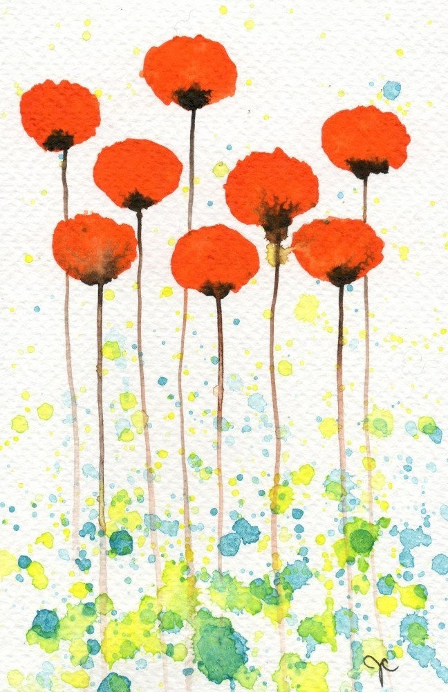 Good Morning Sunshine -- Orange Flowers -- Giclee Print 4x6