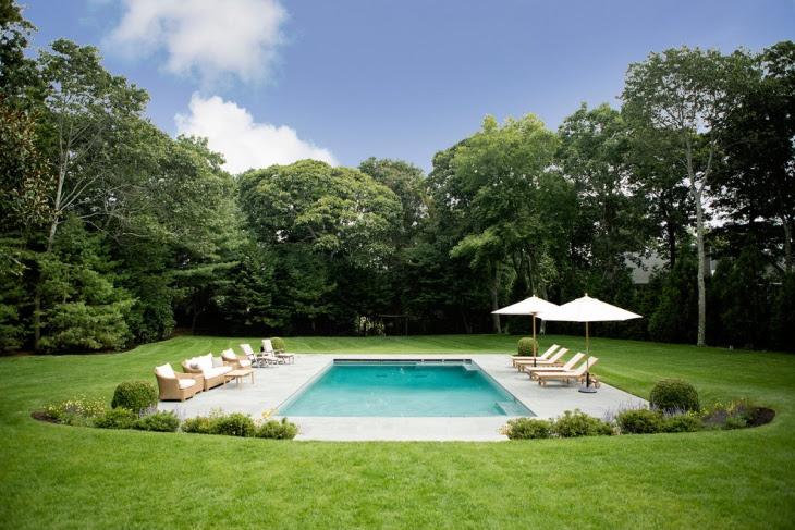 Backyard Swimming Pool In Large Space