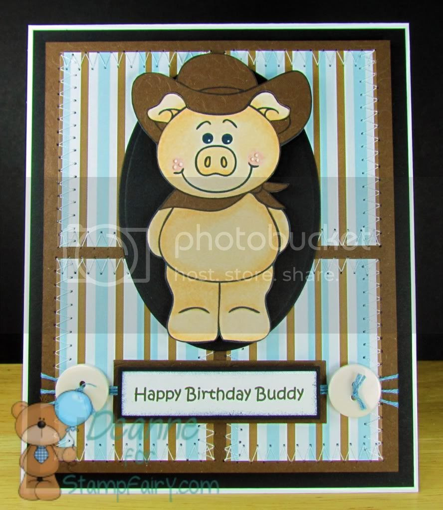 Cowboy Piggy in Brown