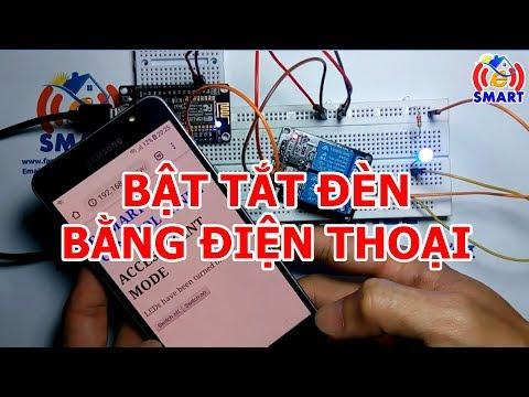 Điều khiển đèn bằng wifi - nạp chương trình cho kit nodemcu esp8266