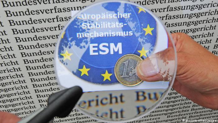 Symbolbild Bundesverfassungsgericht Euro-Rettungsschirm ESM (picture-alliance/dpa)