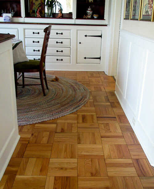 Parquet flooring for a ranch house? Yes -- an