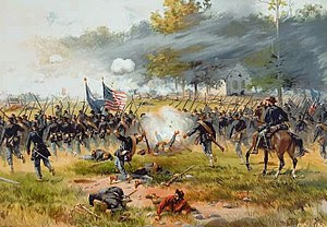 Battle of Antietam, specifically, the charge o...