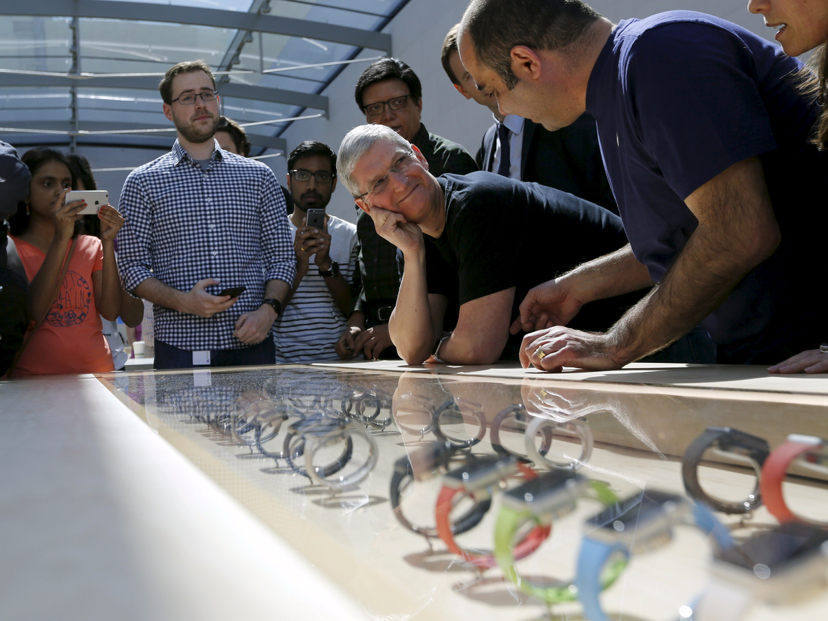 Apple gets into wearables with its Watch.