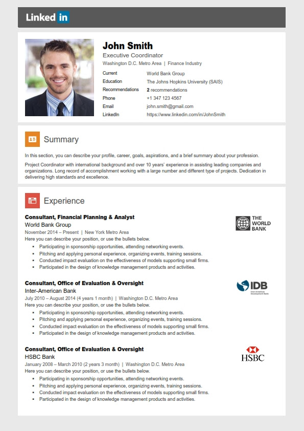 Cv Templates Linkedin Work Experience Reference Letter From Employer