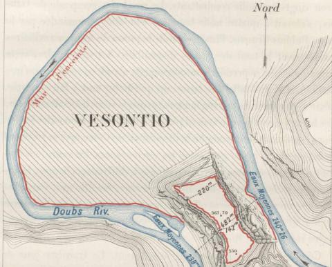 Map of Vesontio by Eugene Stoeffel