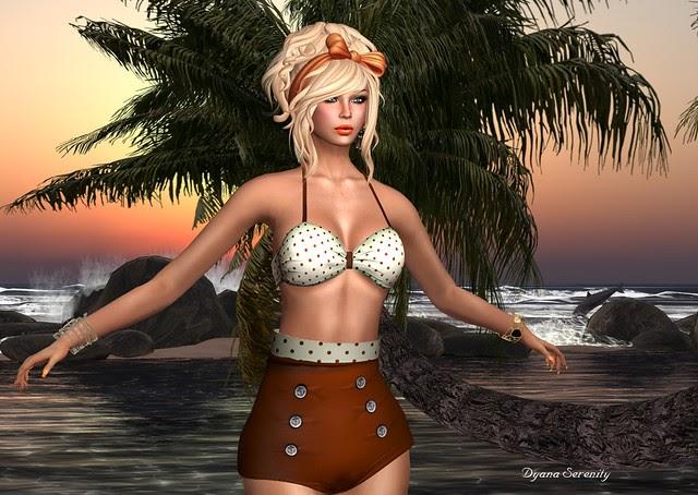 Attractive Nude Olita Beach Gif