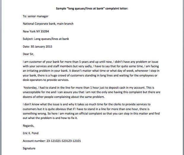 Complaint letter against bank staff complaint letter against bank complaint letter how to write an effective letter of complaint spiritdancerdesigns Image collections