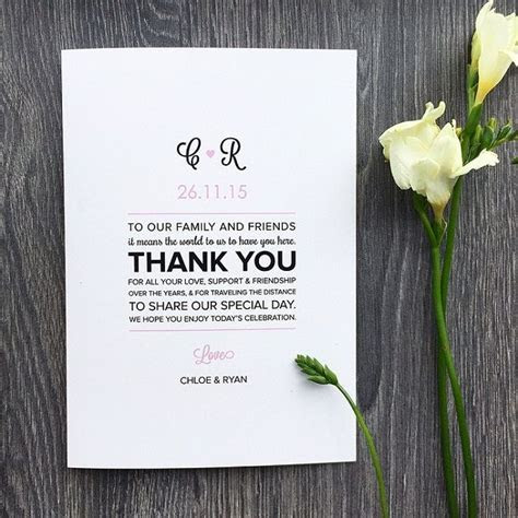 Wedding Program Messages of Thanks   Wedding Ideas & Tips