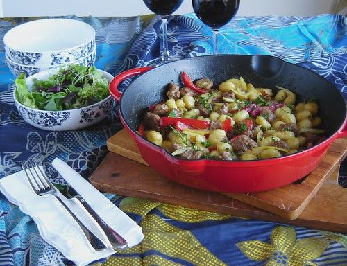 Italian Sausage with Gnocchi & Red Peppers 3