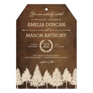 Rustic Woodland Wedding Invitations Invites