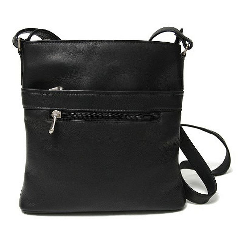 Royce Leather Vaquetta Triple-Zip Crossbody Bag, Women's, Black