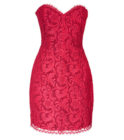 French Rouge Lace Dress