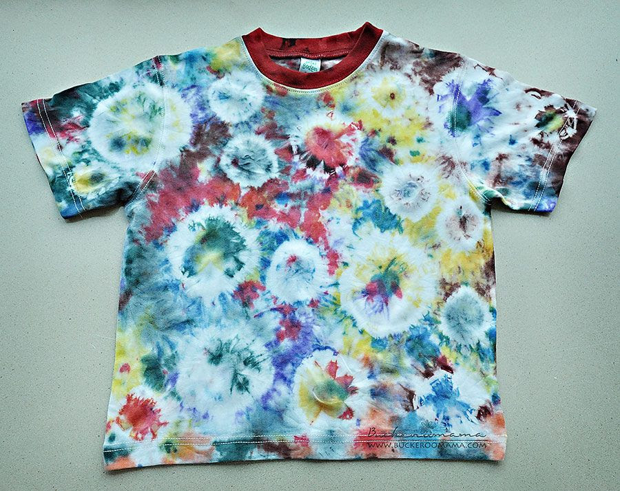 10.2, We had fun making tie-dyed shirts.