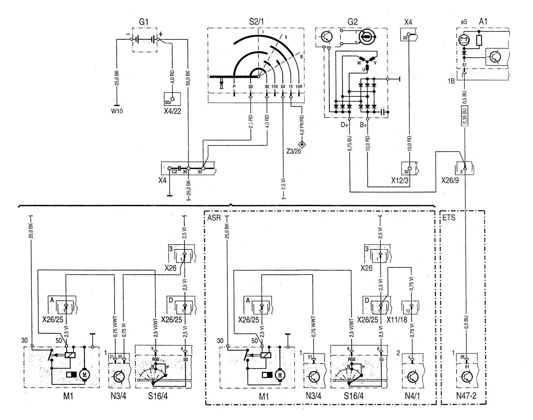 Mercedes-Benz C280 (1994 - 1997) - wiring diagrams ...