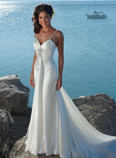 Beach theme wedding dresses