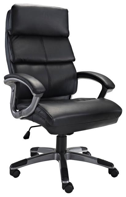Stellar High Back Ergonomic Executive Office Chair in Black Vinyl ...