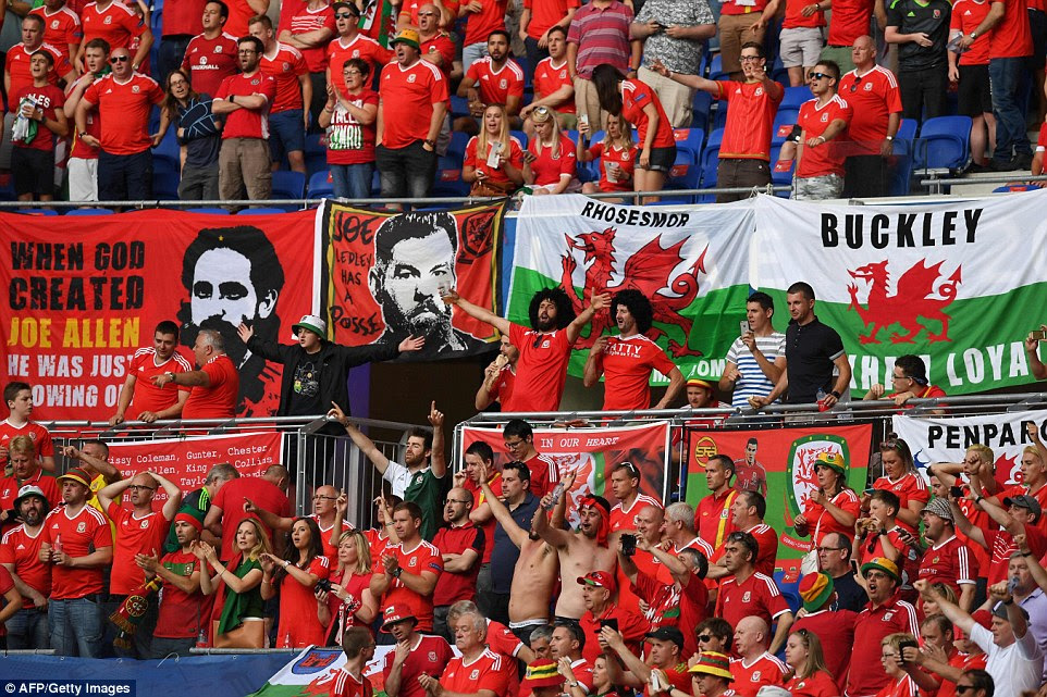 As has been the case throughout Euro 2016, the Wales supporters were out in full force for the match against Portugal