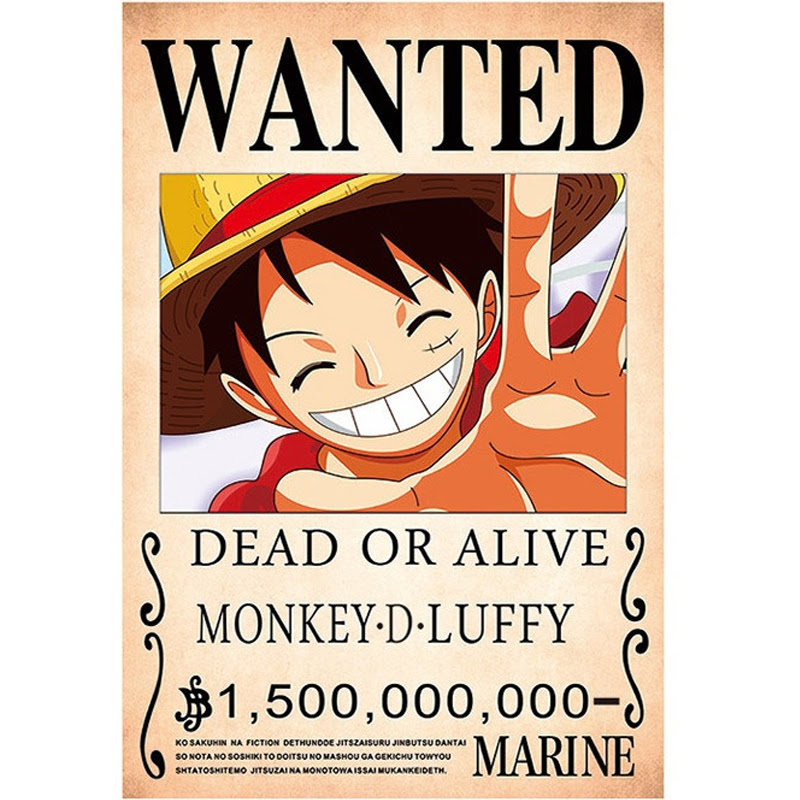 New Arrived One Piece Anime Poster Wallpaper Monkey D Luffy