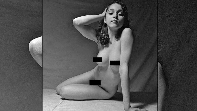 Madonna posando desnuda a los 21 años