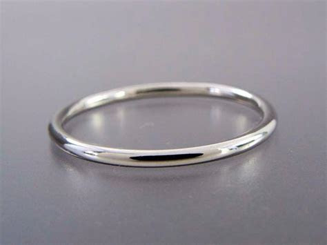 thin platinum wedding band mm wide stacking ring choice