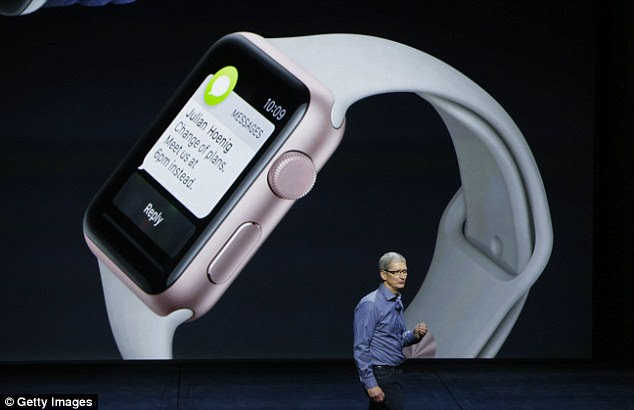 Despite knocking the Apple Watch, Wozniak praised Apple¿s CEO, Tim Cook (pictured here at its launch). ¿Everything else, I'm very approving of Tim Cook, because every time we have a new iOS update, I'm very happy that it's doing things that really affect people¿