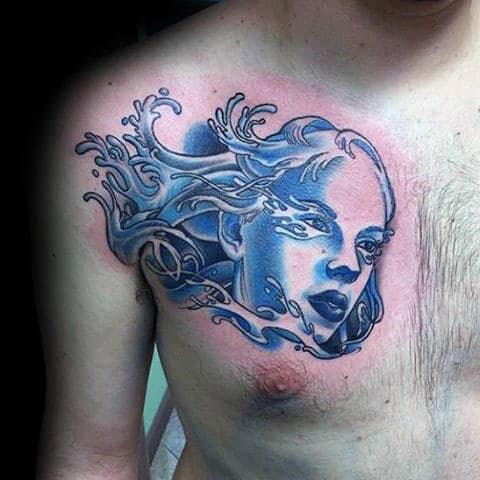 70 Aquarius Tattoos For Men - Astrological Ink Design Ideas