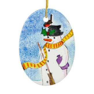 Snowman Christmas Ornament ornament