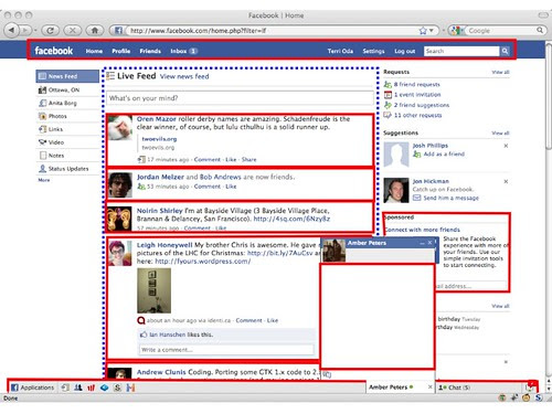 A sample ViSP policy on the Facebook home page