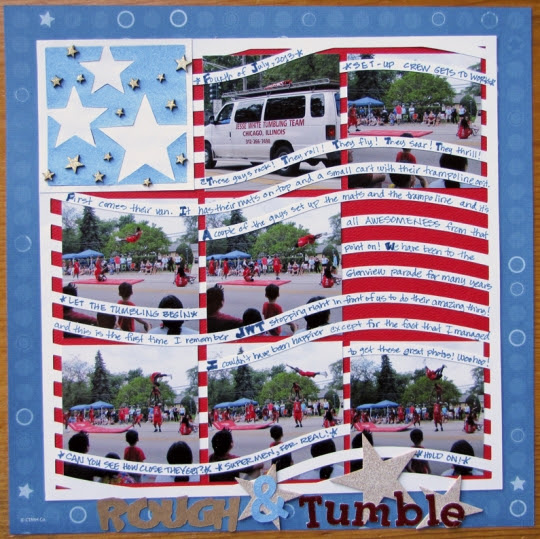 I really love parades and fireworks and getting together with family! And the Jesse White Tumblers are like the icing on the Fourth of July cake!