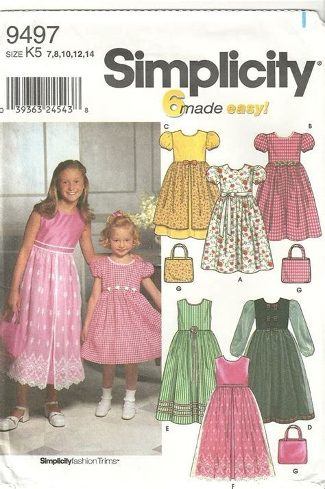 Simplicity 9497 Flower Girl Easter Petticoat Dress Purse