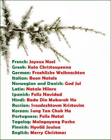 Christmas Greeting Spanish Translation Ucap Natal