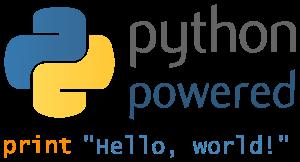 """English: Python powered logo with print(""""..."""