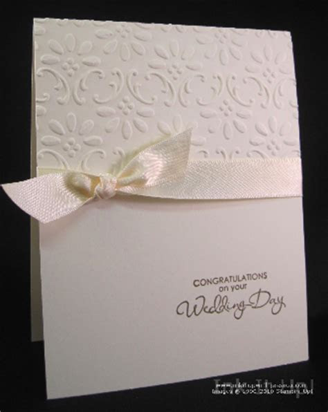 Easy Elegant Wedding Card   Ink it Up With Jessica   Card