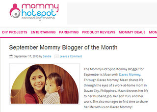 September Mommy Blogger of the Month