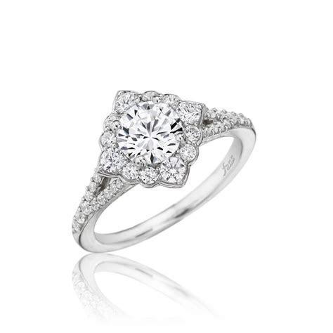 Fana ? Designer Diamond Shaped Halo Engagement Ring