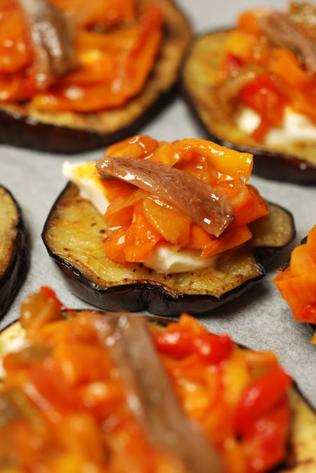 eggplant and pepperonata stacks© by Haalo