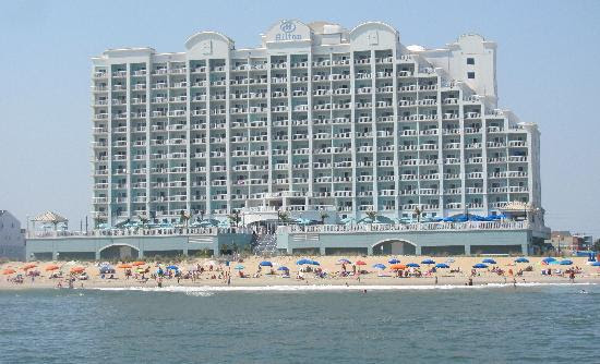 Beach Side Of Hotel Picture Hilton Suites Ocean City Oceanfront