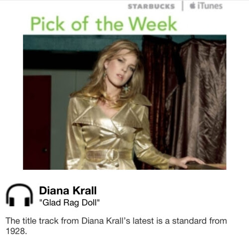 Starbucks iTunes Pick of the Week - Diana Krall - Glad Rag Doll