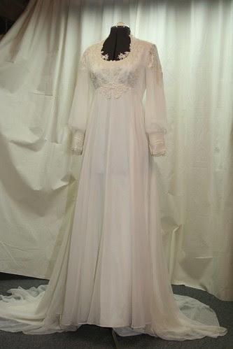 March 2013 vintage wedding gown -original front