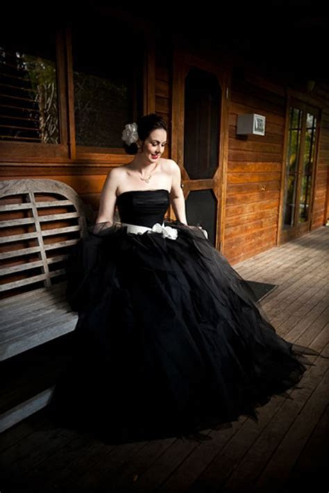1000  ideas about Black Wedding Gowns on Pinterest   Black
