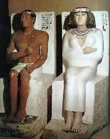 Statues of Rahotep and Nofret