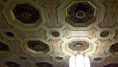 The intracate celing detail in the Euclid Avenue lobby is still in tact