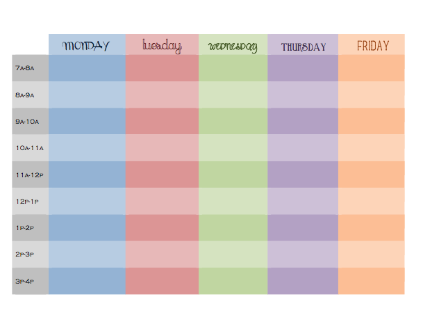 daily hourly schedule printable daily planner