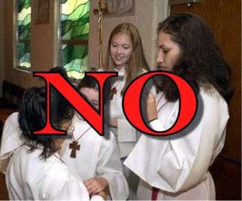 No altargirl girls wanted here!