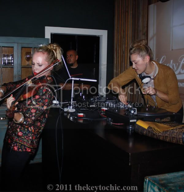 Lucky Brand New Movement in Denim event at Eveleigh, violinist Caitlin Moe, DJ Mia Moretti