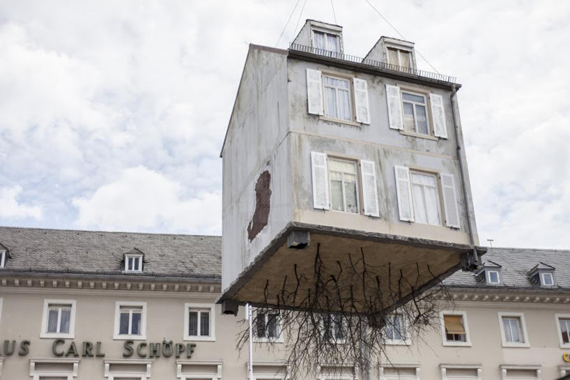 leandro erlich pulled by the roots karlsruhe designboom