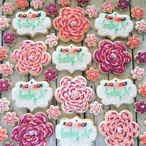 Baby N floral baby shower  MINI's   Hayley Cakes and